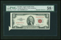 Error Notes:Attached Tabs, Fr. 1509 $2 1953 Legal Tender Note. PMG Choice About Unc 58 EPQ.....