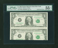 Error Notes:Major Errors, Fr. 1921-B $1 1995 Federal Reserve Note. PMG About Uncirculated 55EPQ.. ...