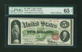 Large Size:Legal Tender Notes, Fr. 63a $5 1863 Legal Tender PMG Gem Uncirculated 65 EPQ....
