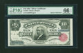 Large Size:Silver Certificates, Fr. 299 $10 1891 Silver Certificate PMG Gem Uncirculated 66 EPQ....