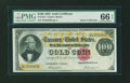 Large Size:Gold Certificates, Fr. 1214 $100 1882 Gold Certificate PMG Gem Uncirculated 66 EPQ....