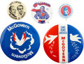 Political:Pinback Buttons (1896-present), George McGovern: Lot of Five 1972 Presidential Campaign Buttons....(Total: 5 Items)