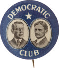 "Political:Pinback Buttons (1896-present), Wilson & Marshall: Rare, Elegantly Simple 7/8"" Jugate Design...."