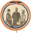 """Political:Pinback Buttons (1896-present), Theodore Roosevelt: Exceptionally Rare Type of """"Equality"""" Button...."""