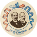 "Political:Pinback Buttons (1896-present), Parker & Davis: Spectacular Specimen of this Colorful 1¼""Jugate...."