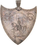 Military & Patriotic:Pre-Civil War, Solid Silver 1854 American Shooting Medal from the Famed National Lancers Boston Militia Unit....