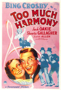 "Movie Posters:Comedy, Too Much Harmony (Paramount, 1933). One Sheet (27"" X 41""). Comedy.. ..."