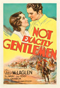 "Movie Posters:Western, Not Exactly Gentlemen (Fox, 1931). One Sheet (27"" X 41""). Western. Also Released as Three Rogues.. ..."