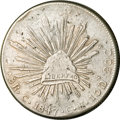 Mexico, Mexico: Republic Cap and Rays 8 Reales 1847 C-CE,...