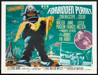 "Forbidden Planet (MGM, 1956). Half Sheet (22"" X 28"") Style B. Science Fiction"