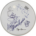 Music Memorabilia:Autographs and Signed Items, Jefferson Airplane Band Signed Drumhead...