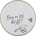 Music Memorabilia:Autographs and Signed Items, Todd Rundgren Signed Drumhead....