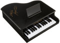 Music Memorabilia:Autographs and Signed Items, Jerry Lee Lewis Signed Mini Piano....