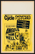 """Movie Posters:Action, Angels from Hell (American International, 1968). Benton Window Card (14"""" X 22""""). Action.. ..."""