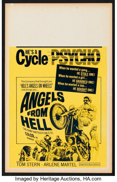 Angels from hell Tom Stern vintage poster print