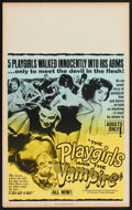 """Movie Posters:Horror, The Playgirls and the Vampire (Fanfare, 1963). Benton Window Card (14"""" X 22""""). Horror.. ..."""