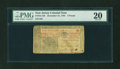 Colonial Notes:New Jersey, New Jersey December 31, 1763 £3 PMG Very Fine 20....
