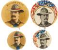 """Political:Pinback Buttons (1896-present), Theodore Roosevelt: Group of Four """"Rough Rider"""" Pinbacks.... (Total: 4 Items)"""