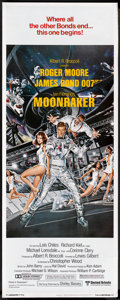 "Movie Posters:James Bond, Moonraker (United Artists, 1979). Insert (14"" X 36"") and Mini LobbyCards (4) (8"" X 10'). James Bond.. ... (Total: 5 Items)"