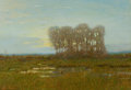 Fine Art - Painting, American:Modern  (1900 1949)  , ROBERTSON KIRTLAND MYGATT (American, 1862-1919). Moonlight onthe Marshes, 1913. Oil on canvas. 18 x 26 inches (45.7 x 6...