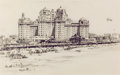 Fine Art - Work on Paper:Drawing, EARL HORTER (American, 1881-1940). Atlantic City BeachScene. Pencil on paper. 13-1/2 x 21-1/2 inches (34.3 x 54.6cm). ...