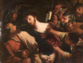 Fine Art - Painting, European:Antique  (Pre 1900), 19th-Century French Follower of GUERCINO (Italian, 1591-1666).The Betrayal of Christ. Oil on canvas. 14 x 18 inches (35...