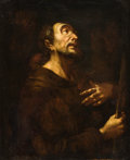 Fine Art - Painting, European:Antique  (Pre 1900), EUROPEAN SCHOOL (18th Century). Portrait of a Saint. Oil oncanvas. 24-1/4 x 19-3/4 inches (61.6 x 50.2 cm). ...