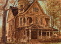 Fine Art - Work on Paper:Drawing, HARRY ALLEN DAVIS (American, 1914-2006). Queen Anne VictorianHome. Mixed media on paper. 20-3/4 x 28-3/4 inches (52.7 x...