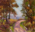 Fine Art - Painting, American:Modern  (1900 1949)  , HARRY R. TOWNSEND (American, 1885-1968). Country LaneLandscape. Oil on canvas. 18 x 20 inches (45.7 x 50.8 cm).Signed ...