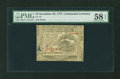 Colonial Notes:Continental Congress Issues, Continental Currency November 29, 1775 $4 PMG Choice About Unc 58EPQ....