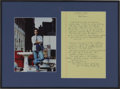 Movie/TV Memorabilia:Autographs and Signed Items, Jerry Seinfeld Handwritten Monologue with Signed Photo....