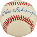 Autographs:Baseballs, Charles Gehringer Single Signed Baseball. ...