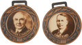 Political:Miscellaneous Political, Harding and Cox Watch Fobs: Choice Pair of 1920 Campaign Items....(Total: 2 Items)