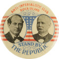 "Political:Pinback Buttons (1896-present), Bryan & Stevenson: ""Stand by the Republic,"" One of the Top 1900Jugate Varieties...."