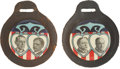 Political:Pinback Buttons (1896-present), Taft & Sherman and Wilson & Marshall: Two Superb JugateWatch Fobs. ... (Total: 2 Items)