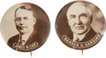 "Political:Pinback Buttons (1896-present), Cox and Harding: Large and Dramatic Pair of 1¾"" 1920 Pinbacks. ...(Total: 2 Items)"