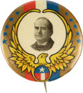"Political:Pinback Buttons (1896-present), William Jennings Bryan: Colorful 1¼"" 1908 Rarity...."