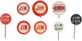 Political:Pinback Buttons (1896-present), James M. Cox: Collection of Eight Small Name Buttons. ... (Total: 8 Items)