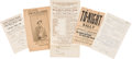 Political:Small Paper (1896-present), Woman's Suffrage: Programs and Fliers.... (Total: 5 Items)