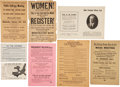 Political:Small Paper (1896-present), Woman's Suffrage: Large Group of Leaflets and Booklets....