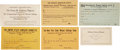 Political:Small Paper (1896-present), Woman's Suffrage: Suffrage Documents.... (Total: 53 Items)