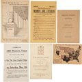 Political:Small Paper (1896-present), Woman's Suffrage: Suffrage Pamphlets and Leaflets.... (Total: 29 Items)