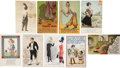 Political:Small Paper (1896-present), Woman's Suffrage: A Collection of Seventy-nine Trousers and Harem Skirts Postcards.... (Total: 79 Items)