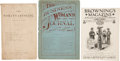 Political:Small Paper (1896-present), Woman's Suffrage: Fourteen Suffrage Publications.... (Total: 14 Items)