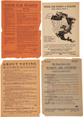 Political:Posters & Broadsides (1896-present), Woman's Suffrage: Lot of Twenty-four National American Woman Suffrage Association Leaflets.... (Total: 24 Items)