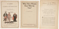 Political:Small Paper (1896-present), Woman's Suffrage: NAWSA Pamphlets.... (Total: 23 Items)