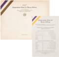 Political:Posters & Broadsides (1896-present), Woman's Suffrage: 1914 Congressional Union For Woman SuffrageAnnual Report and 1915 Agenda.... (Total: 2 Items)