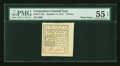 Colonial Notes:Connecticut, Connecticut October 11, 1777 7d White Paper Uncancelled PMG AboutUncirculated 55 EPQ....