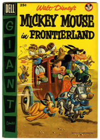 Dell Giant Comics: Mickey Mouse in Frontierland (Dell, 1956) Condition: VF+