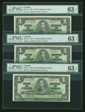 Canadian Currency: , BC-21c $1 1937 Three Consecutive Examples. ... (Total: 3 notes)